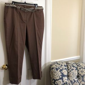 Dana Buchman brown cuffed trousers-16
